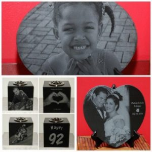 Vases, portraits, plaques and more. Laser engraving UK, Bespoke memorials, unique laser etched granite, headstones with photos