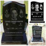 Laser etched granite headstone, #selfiestone, Selfie-Stone