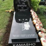 best place to buy a headstone memorial, Unique bespoke granite headstone memorial with laser etching and photos